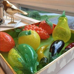 Other - Vintage blown glass fruit and veggies. Beautiful.
